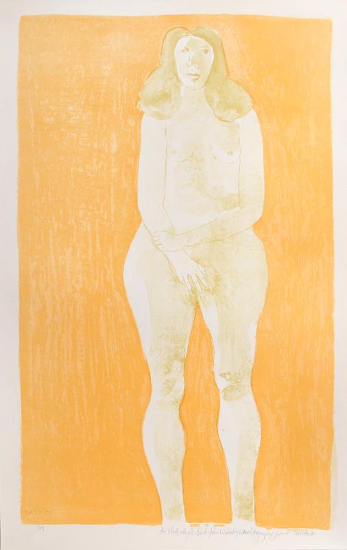 Leonard Baskin, Eve, Lithograph