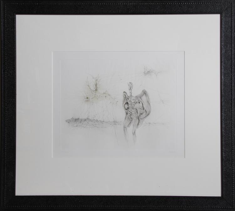Hans Bellmer, La Chauve-Souris, Etching