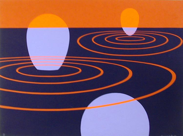 Clarence Holbrook Carter, Transection I, Silkscreen