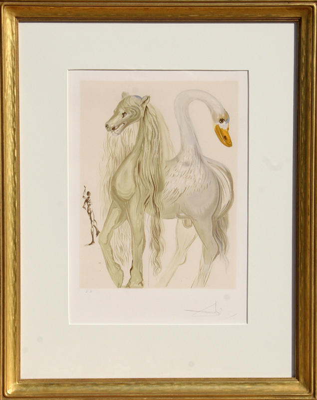 Salvador Dali, Le Chimere d'Horace from Dalinean Horses, Lithograph