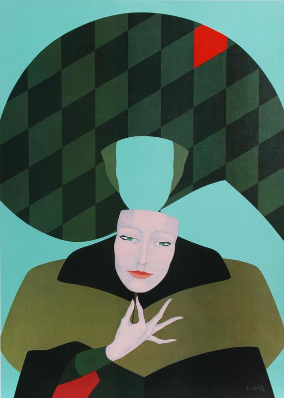 Amleto Dalla Costa, Masque, Serigraph Poster