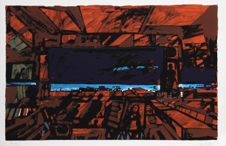 John Hultberg, Rusted Room, Silkscreen
