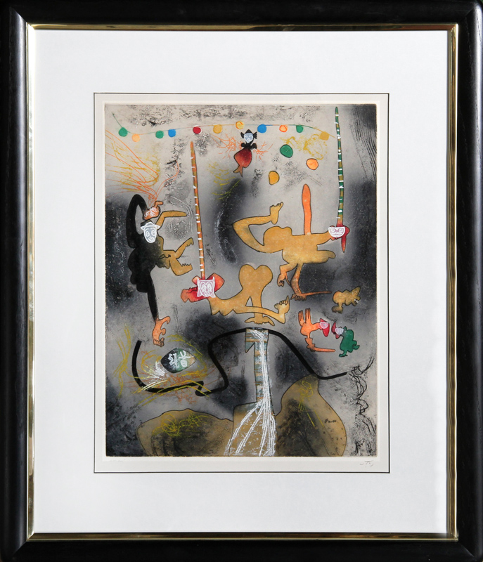 Roberto Matta, Carne Amont 6, Aquatint Etching