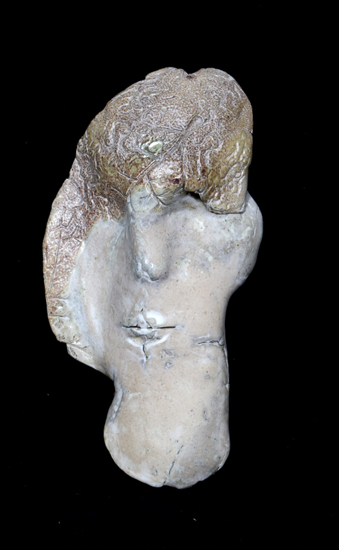 Ira Ono, Mask, Ceramic Sculpture, signature inscribed