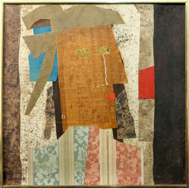 Max Papart, Marlborough Chercheuse d'Or I, Mixed Media Collage