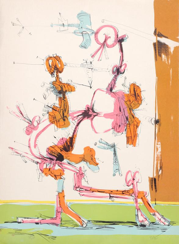 Dimitri Petrov, Untitled - Walking Figure, Lithograph