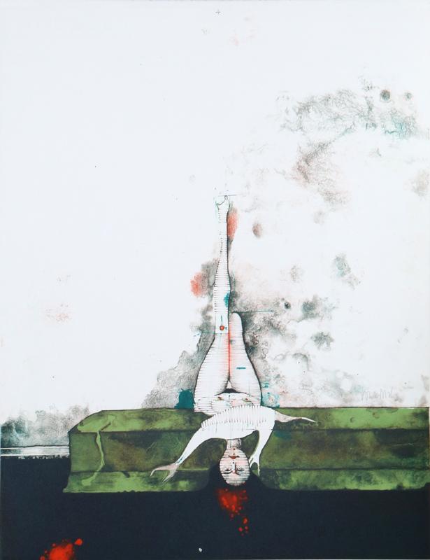 Paul Wunderlich, La Divan Vert, Lithograph
