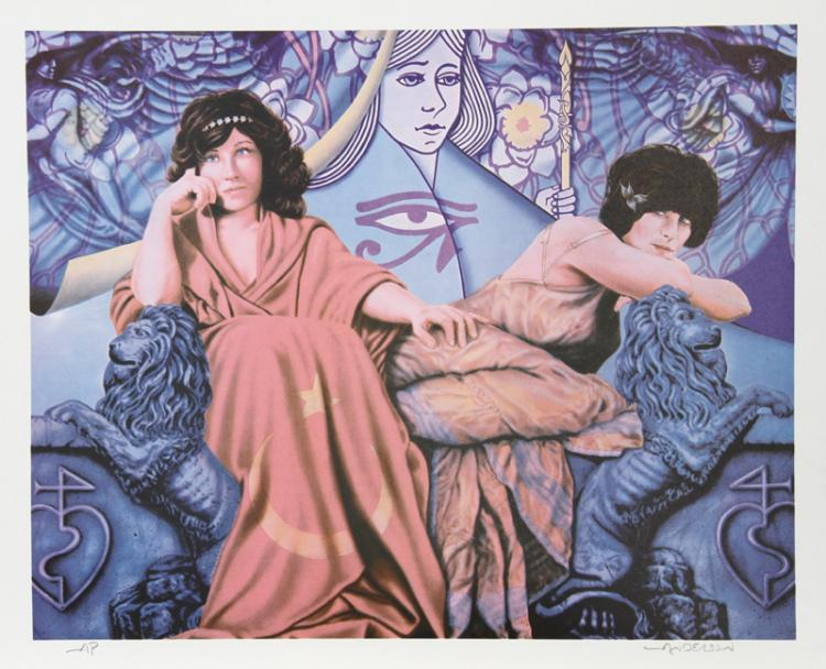 Robert Anderson, Judgement of the Moon & Stars, Lithograph