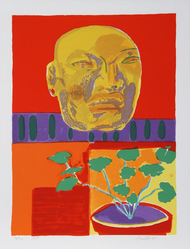 John Grillo, Olmec Mask, Serigraph