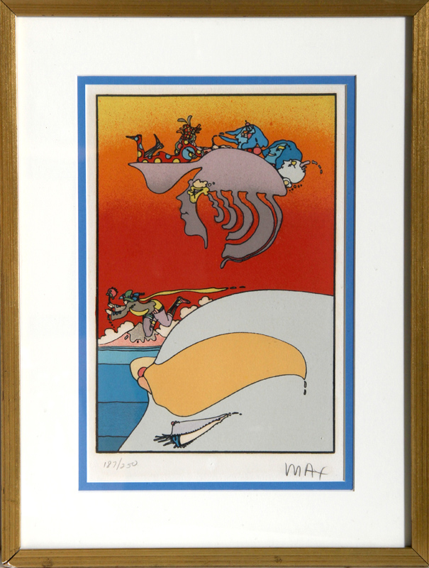 Peter Max, Traveling Along, Lithograph