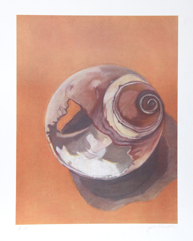 Jill O'Connell, Moon Shell, Lithograph