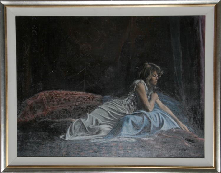 Harry McCormick, Untitled (Reclining Woman), Oil Painting
