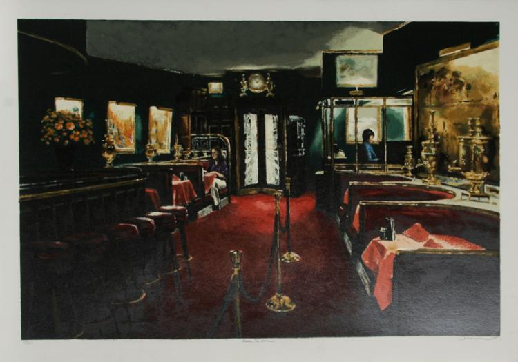 Harry McCormick, Russian Tea Room, Serigraph