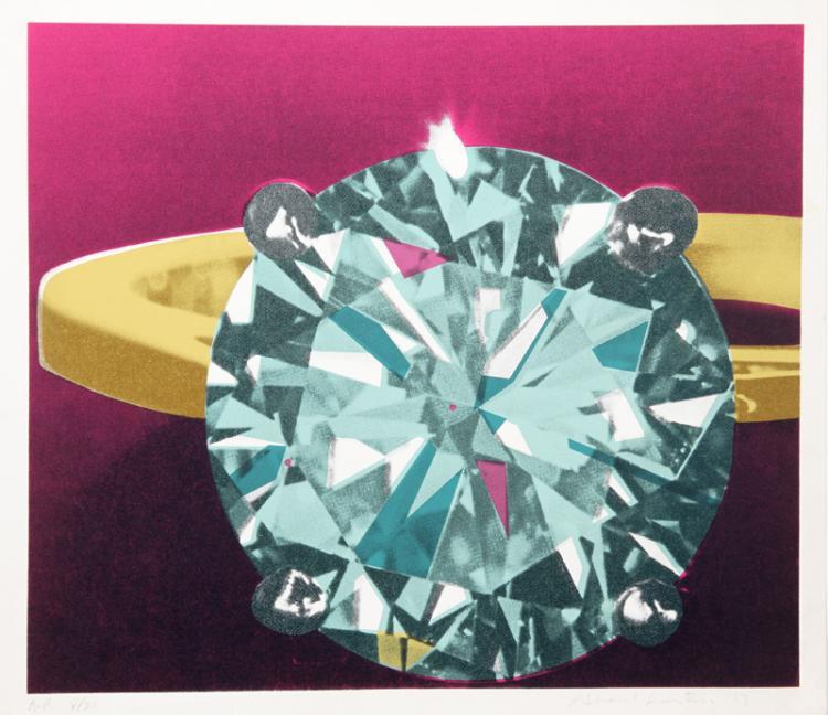 Richard Bernstein, Diamond, Silkscreen
