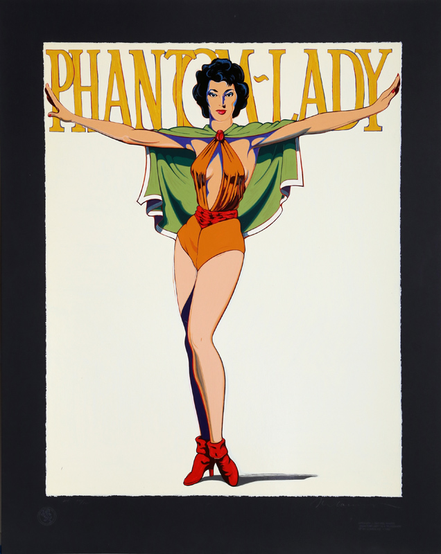 Mel Ramos, Phantom-Lady (Black), Serigraph