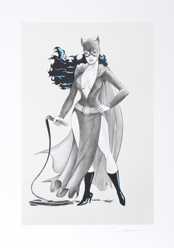 Mel Ramos, Cat Woman #2, Lithograph