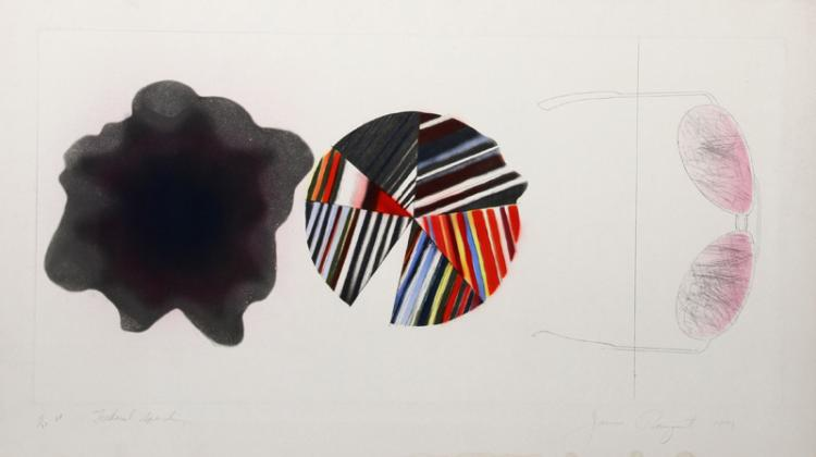 James Rosenquist, Federal Spending, Etching Aquatint with Pochoir