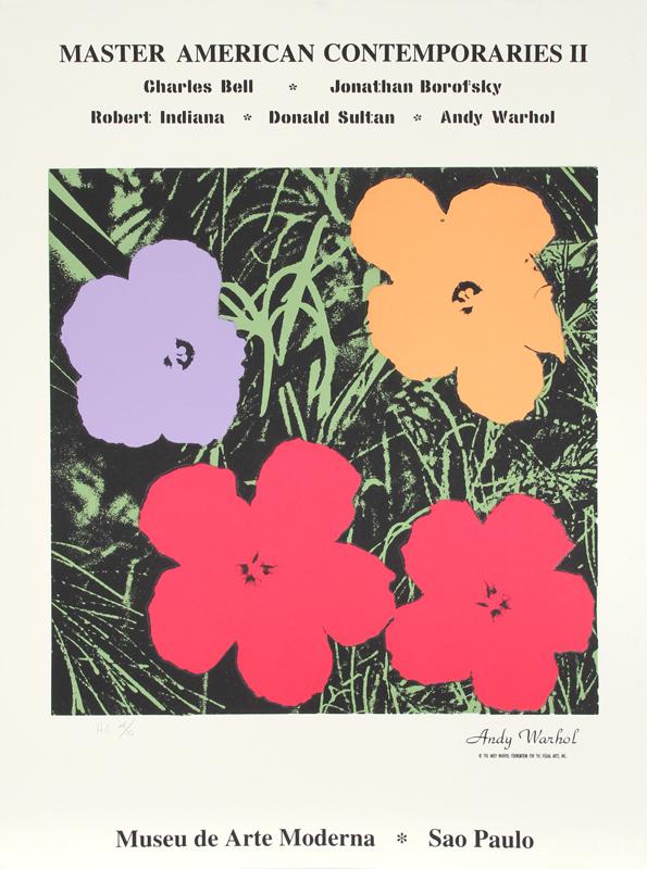 Andy Warhol, Master American Comtemporaries II, Sao Paulo, Silkscreen