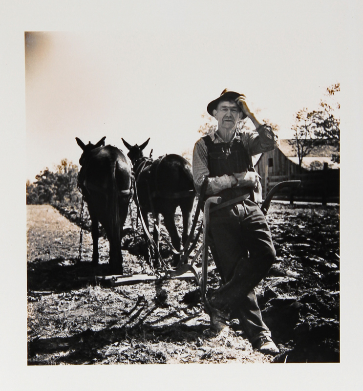 Kosti Ruohomaa, Maine 2 - Farmer with Two Horses, Photograph