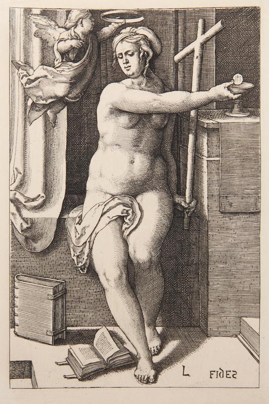 Lucas van Leyden, La Foi, Heliogravure