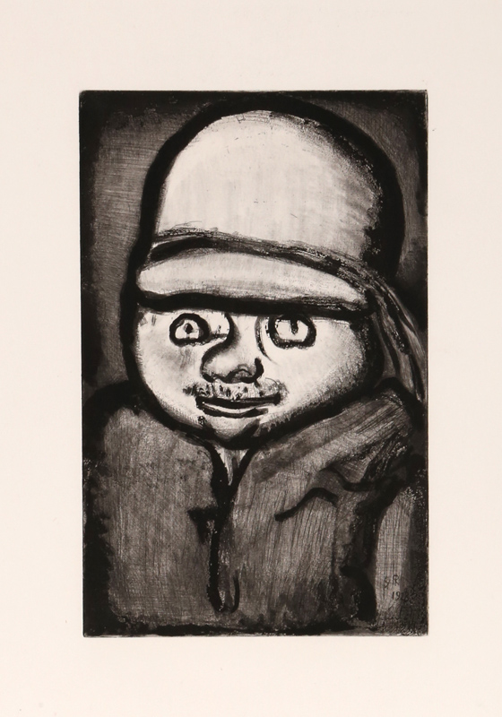 Georges Rouault, Fleau Colon from Le Reincarnations du Pere Ubu, Aquatint