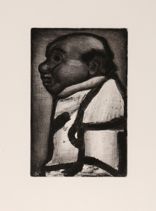 Georges Rouault, Bon Electeur from Le Reincarnations du Pere Ubu, Aquatint