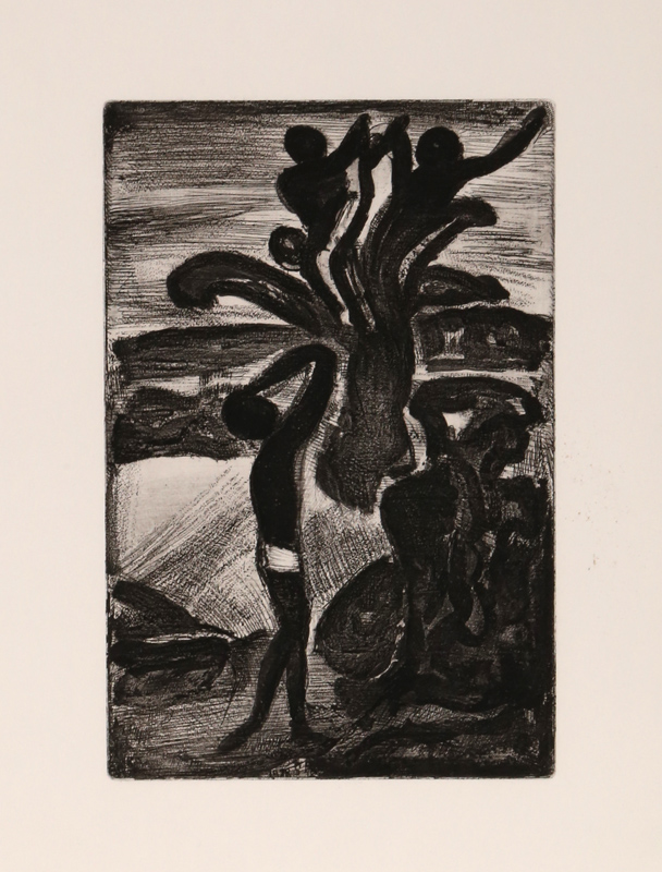 Georges Rouault, Incantation from Le Reincarnations du Pere Ubu, Aquatint