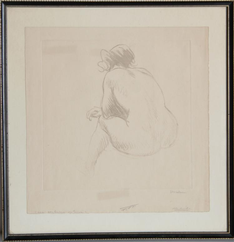 Theophile Alexandre Steinlen, Nu, Soft-ground Etching
