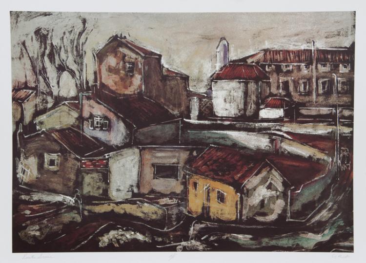 Bogdan Grom, Rustic Scene, Lithograph