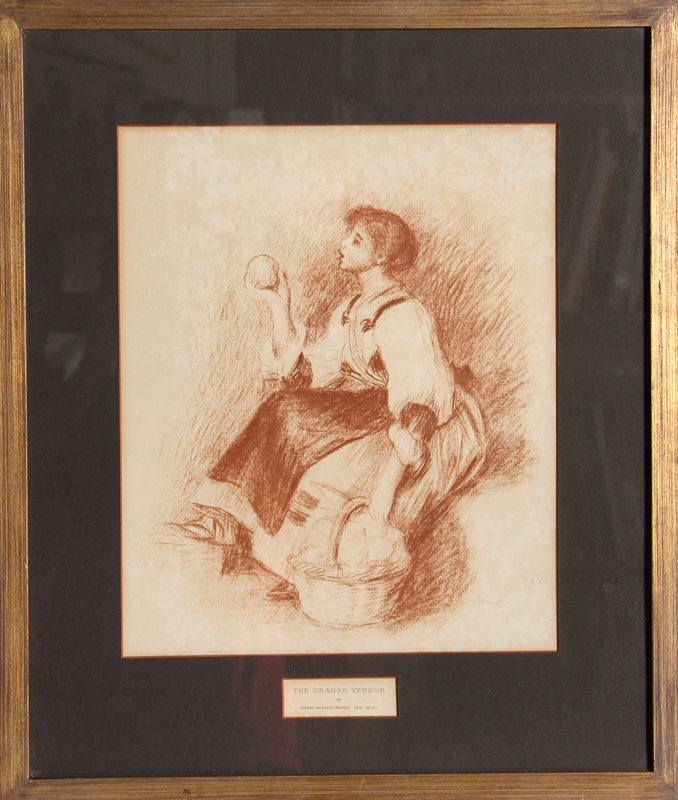 Pierre-Auguste Renoir, The Orange Vendor, Lithograph