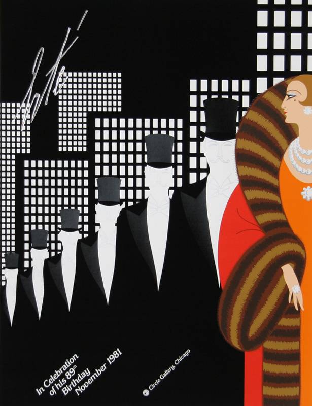 Erte, In Celebration of His 89th Birthday - Top Hats, Serigraph Poster