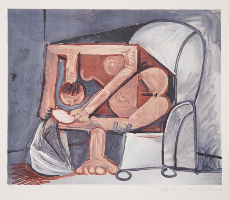 Pablo Picasso, Femme a la Toilette, Lithograph