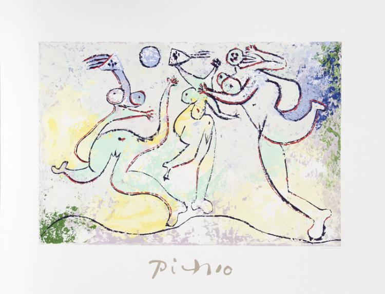 Pablo Picasso, Trois Femmes Jouant au Ballon sur la Plage, Lithograph