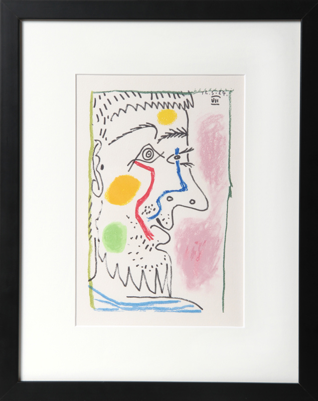 Pablo Picasso, Untitled (Profile VII), Lithograph