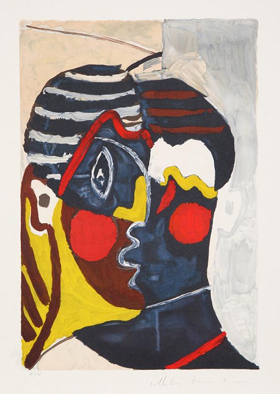 Pablo Picasso, Figure (Paulo en Costume d'Arlequin), Lithograph