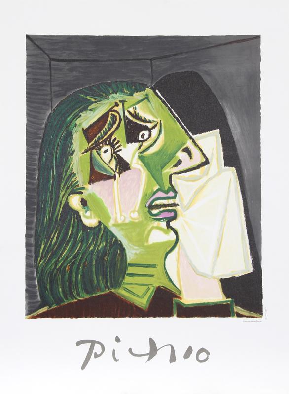 Pablo Picasso, Femme au Mouchoir, Lithograph