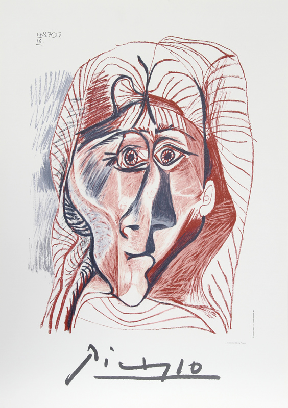 Pablo Picasso, Visage de Femme de Face, Lithograph