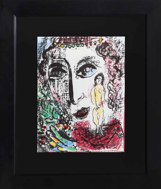 Marc Chagall, La Apparition au Cirque, Lithograph