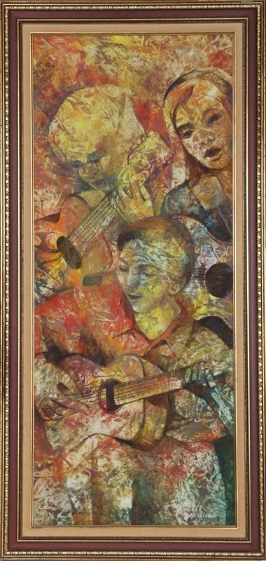 Honey W. Kurlander, Trio, Oil Painting