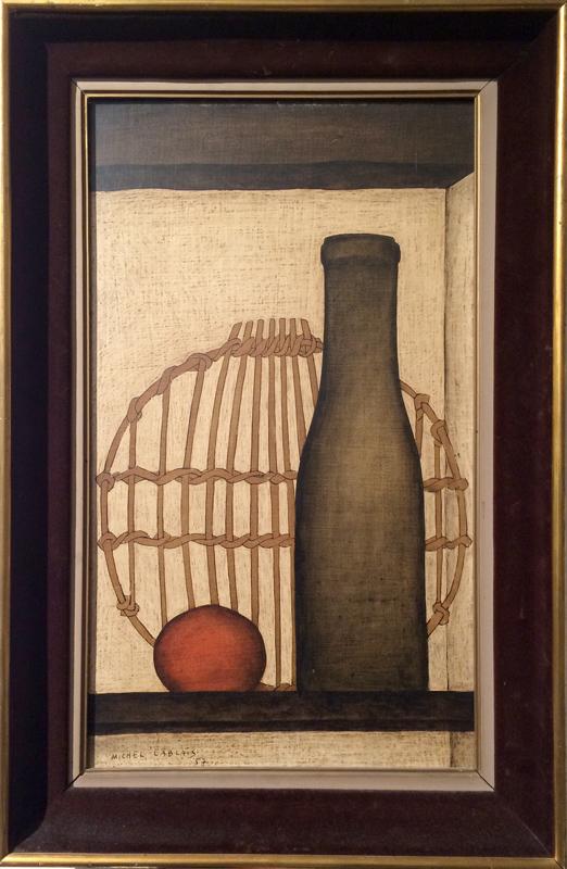 Michel Lablais, Bouteille Vert, Oil Painting