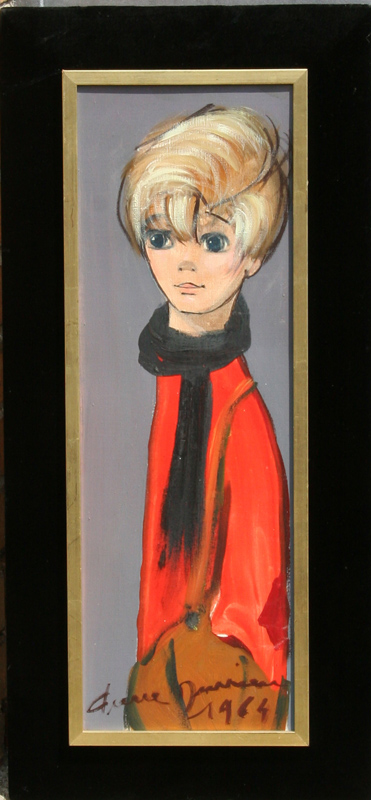 Pierre Rouvieaux, Boy, Oil Painting