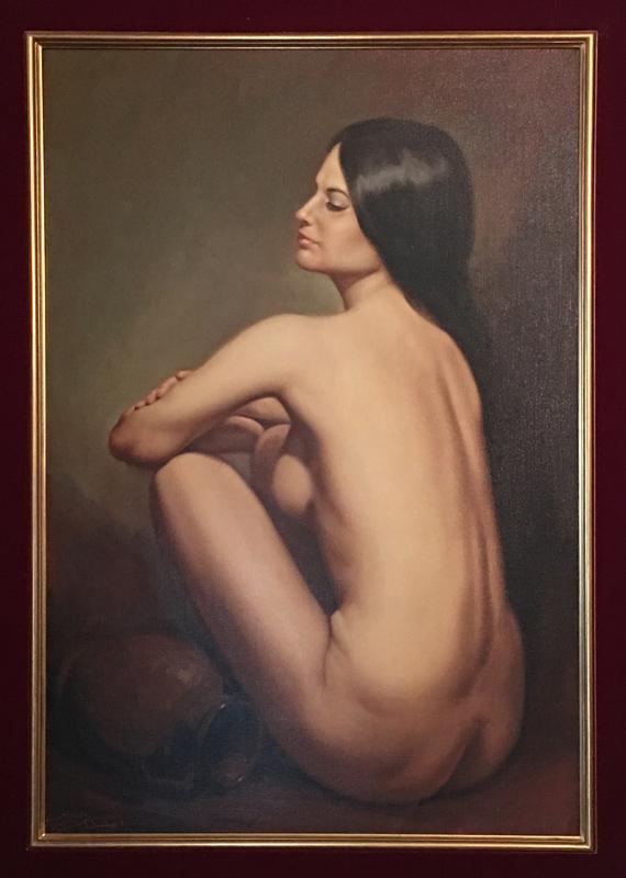 Jose Fuentes de Salamanca, Spanish Nude, Oil Painting