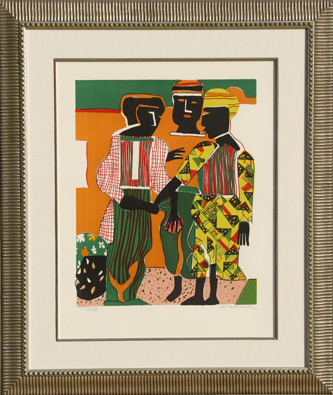 Romare Bearden, Conjunction, Lithograph