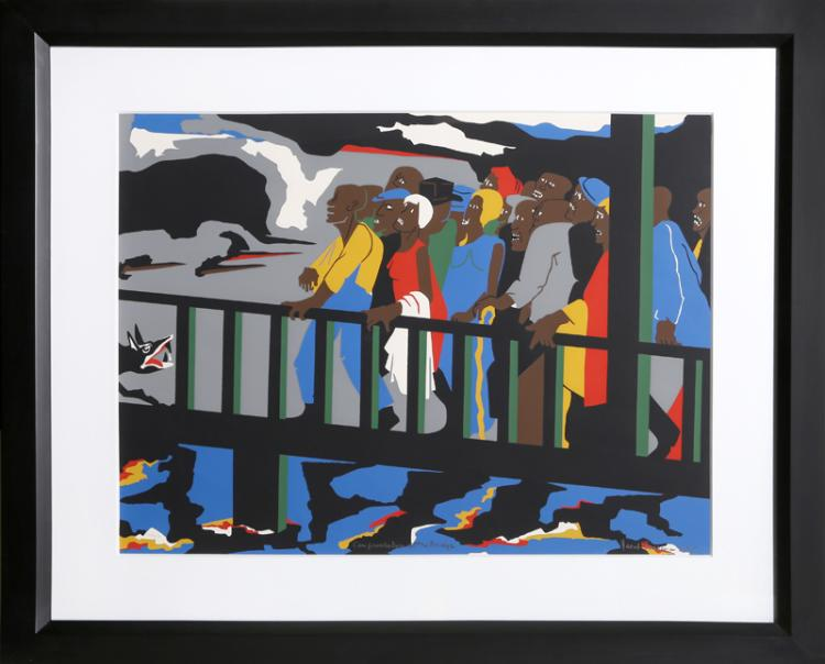 Jacob Lawrence, Confrontation at the Bridge (Selma, Alabama), Screenprint