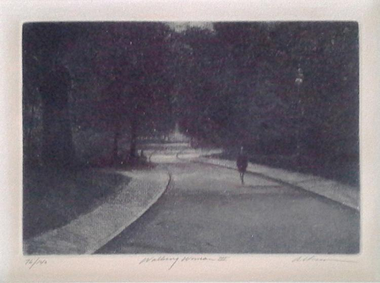 Harold Altman, Walking Woman III, Etching