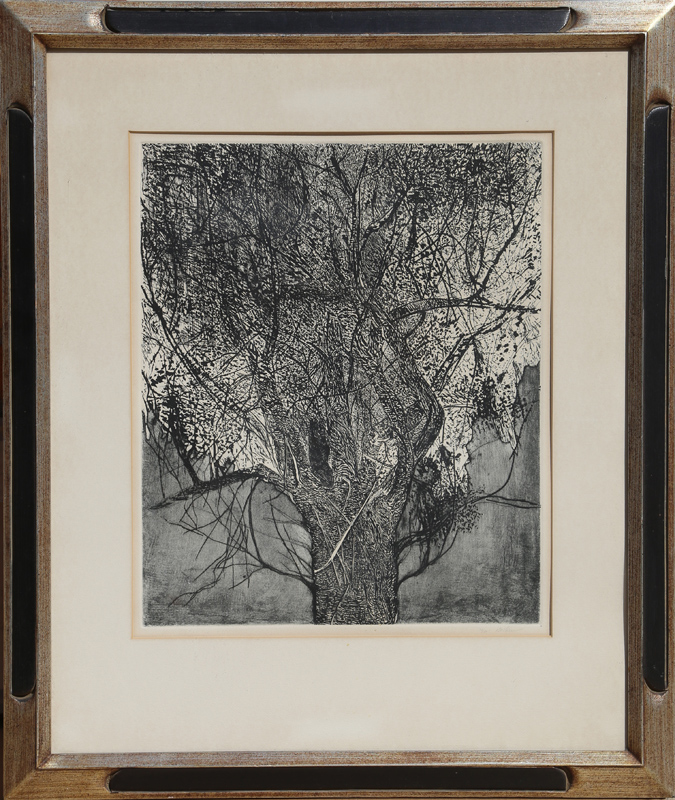 Leonard Baskin, Tree, Etching