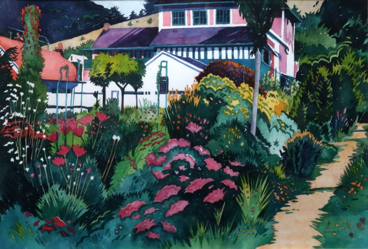 Jon Carsman, Garden Fantasy, Watercolor Painting
