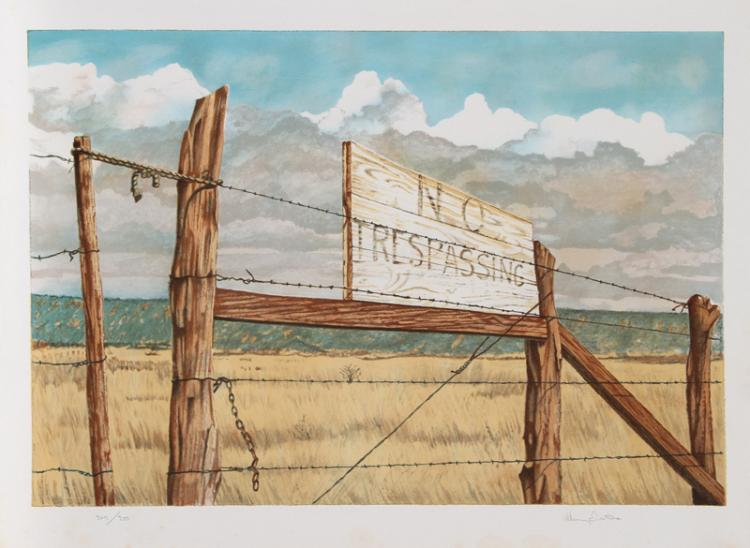Henry Fonda, No Trespassing, Lithograph