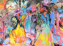Isabel Gamerov, Walking in the Park, Oil Painting