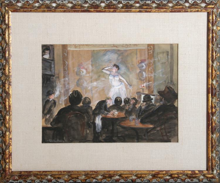 Henry Glintenkamp, Leonda, Oriental Dancer, Watercolor Painting